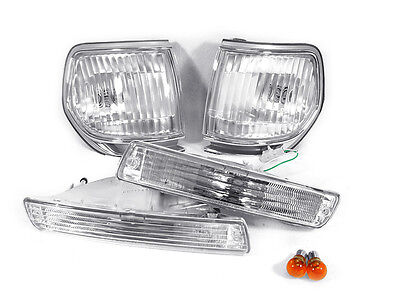1997 Lexus Lx450 Light - 4PCS DEPO Clear Corner + Bumper Lights For 1991-1997 Toyota Land Cruiser FJ80