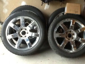 "22""snow tires w rims for sale"