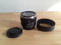 Nikon Zeiss Planar T* 50mm F/1.4 ZF.2 Lens for Nikon F-Mount Cam