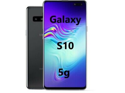 "Samsung Galaxy S10 5G SM-G977B 6.7"" 256GB+8GB RAM ITALIA Smartphone Nuovo Black"