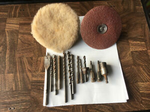 Assorted bits and drill accessories
