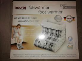 Beurer Foot Warmer Heater Fleece Lined Xmas Christmas Gift