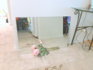 Frameless WALL MIRROR (32''W x 24''H) Gym, Renovations