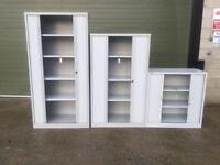 Bisley office tambour cabinet