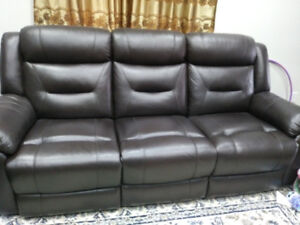 Leather Reclining Sofa for Sale-Pickering