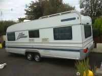 Caravan Royal wilk 5/6 berth twin wheel base with 20ft awning x 8ft wide