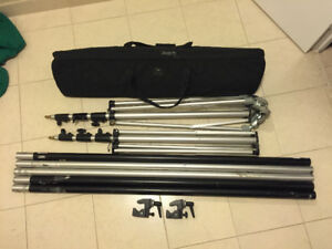 MANFROTTO STANDS, POLLS, wheels, bag, backdrops