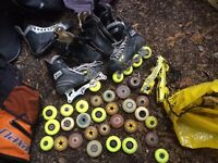 Job lot of roller blade wheels