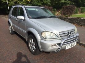 2003 (53 Reg) Mercedes ML270 Diesel MINT CONDITION