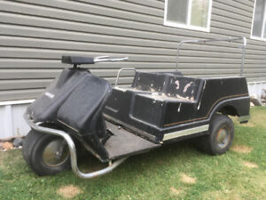 3 wheel Harley Davidson golf cart
