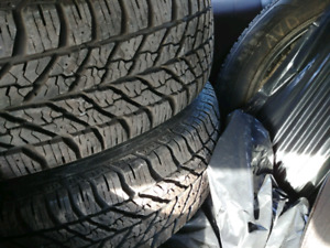 4 new winter tires good year ultragrip with rims  225/65/17