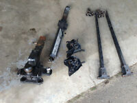 Reese hitch, tortion bars and sway bar