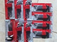 Garage Stock Clearance 10 x UNOPENED 9 Piece Allen Key Sets