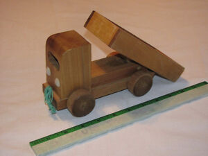 Hand-crafted Wooden Dump Truck model Edmonton Edmonton Area image 1