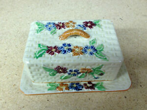 Vintage 1 pound Butter Dish with Cover excellent condition