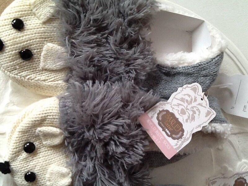 🎄New Barley Lane indoor bootie socks with grip ladies 4-7 shoe size