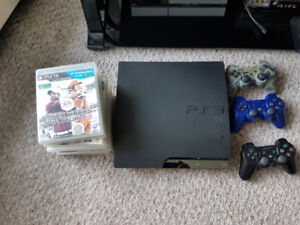 PLAYSTATION 3 PS3 with 2 controller, 10 sports games - $150 Firm