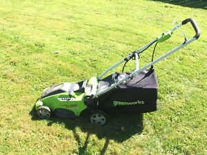 """16"""" electric 2 in 1 lawnmower."""