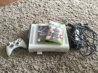 XBox 360 with 20gb HDD and 2 games