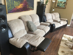 Two Reclining Couches - One has Cupholders