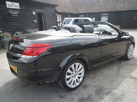 0808 VAUXHALL ASTRA 1.8i 16v AUTOMATIC CONVERTIBLE TWIN TOP EXCLUSIVE BLACK FAB