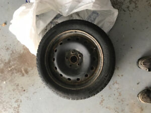 4 Winter Tires and Rims 205/55/16 came off 2015 jetta