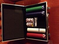 Poker set and card case