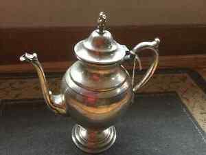 Antique tea / coffee pots, old jugs,and bottle capper 80.00 obo