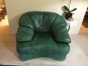 Genuine leather couch and armchairs