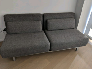 Condo size two people seat sofa bed