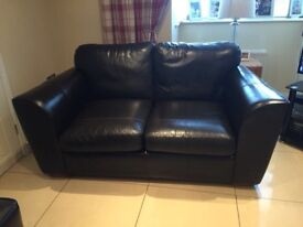 Leather 2 seater couxh