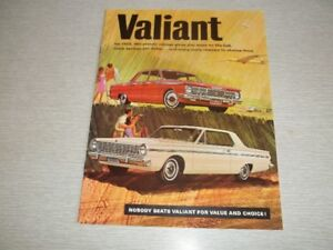 BROCHURE AUTO  VALIANT 1965