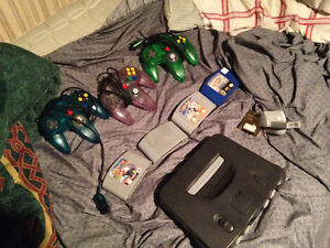 N64 with games and controllers