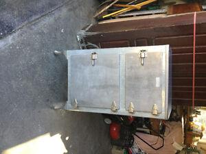 Antique Metal Icebox