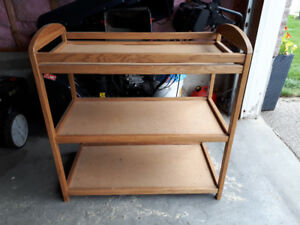 Solid wood change table