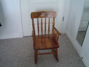 antique bass river rocking chair for child