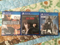 3 PS4 games. All for 80$ or buy separately