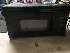 Over the range microwave.