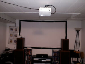 RCA home theater projector w/ bluetooth + extras