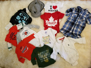 Carters and Joe Fresh collection. Size 3-6 mths. Retails for .