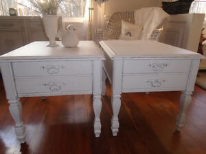 Shabby Chic Matching Side Tables.