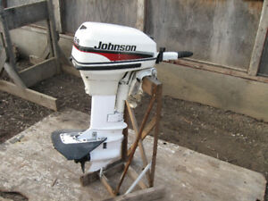 1998 15 HP. SHORT SHAFT JOHNSON OUTBOARD WITH TANK