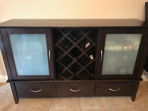 Dining Hutch / Serving Table with Wine storage $450 OBO