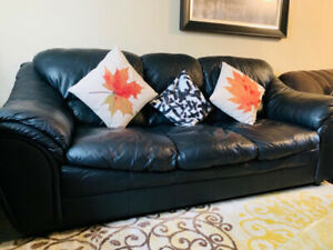 Leather sofa - couch