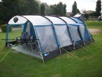 Tent 6 berth Kampa Croyde, Good condition, Porch, Metal poles,2 bedrooms