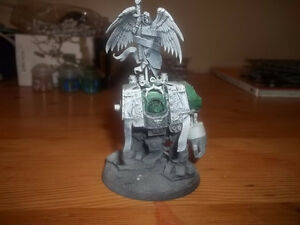 Warhammer 40K Dark Angels Venerable dreadnought and custom dice