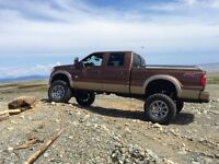 """2012 Ford F-350 King ranch 8"""" BDS lift on 38's (mint)"""