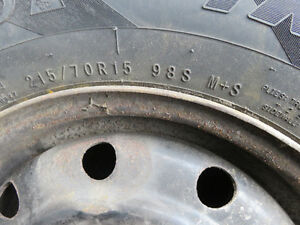 Winter Tires Set of 5 ON RIMS from 2006 Grand Caravan 275 Cambridge Kitchener Area image 2