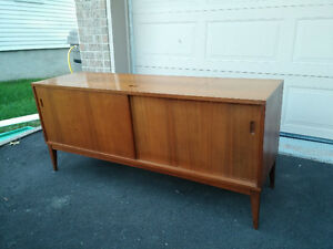 mid century modern teak cabinet manufactured by the Clairtone -