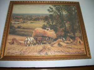 Large Nicely Framed Picture of Days Gone By by Alfred Glendening